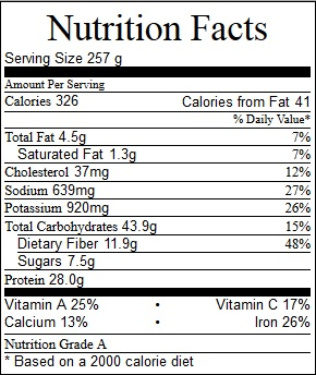 Tortilla Chicken Soup Nutrition